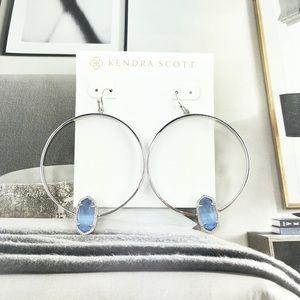 Kendra Scott Elora periwinkle silver earrings